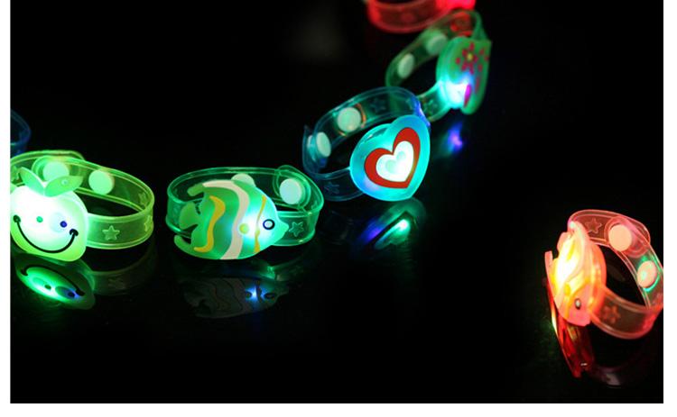 1pcs Cartoon LED Night Light Party Xmas Decoration Colorful LED Watch Toy Boys Girls Flash Wrist Band Glow Luminous Bracelets (9)