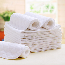 Фотография Reusable baby Diapers Cloth Diaper Inserts 3/6/9 Layer Insert 100% Cotton Washable Baby Care Products