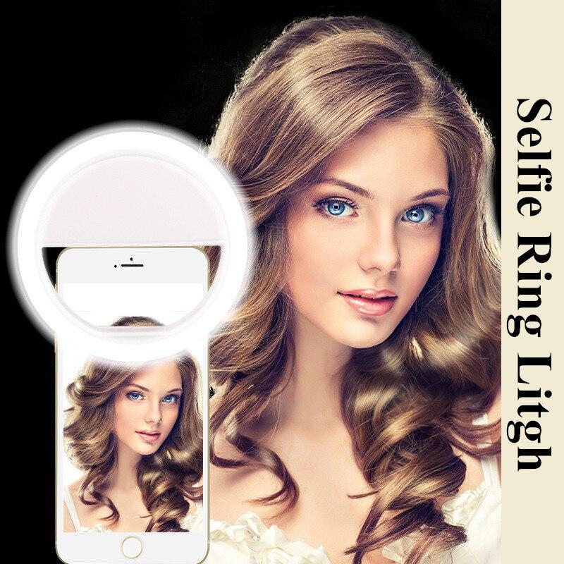Flash portátil 36 Cámara Led mejorando la fotografía Selfie anillo de luz para Smartphone iPhone 6 más 6 s 6 5S 5 4S 4 Samsung Galaxy