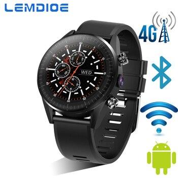 Montre intelligente LEMDIOE 4G pour IOS Android Bluetooth montre intelligente hommes femmes IP67 étanche GPS 1.39 pouces écran rond avec caméra SIM