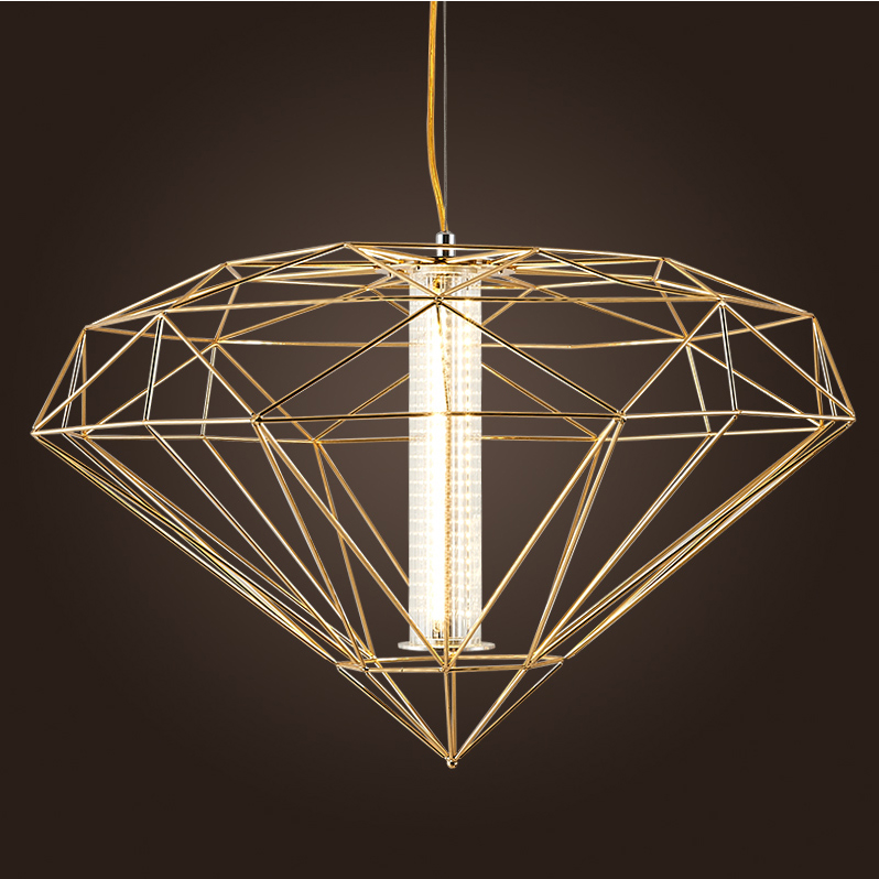 LED Nordic Iron Glass Diamond LED Lamp LED Light Pendant Lights Pendant Lamp pendant light For Dinning Room Foyer Restaurant russia no tax best water jet cutting machine price stone 4aixs cnc router 6040 z s 800w water cooled with limit switch