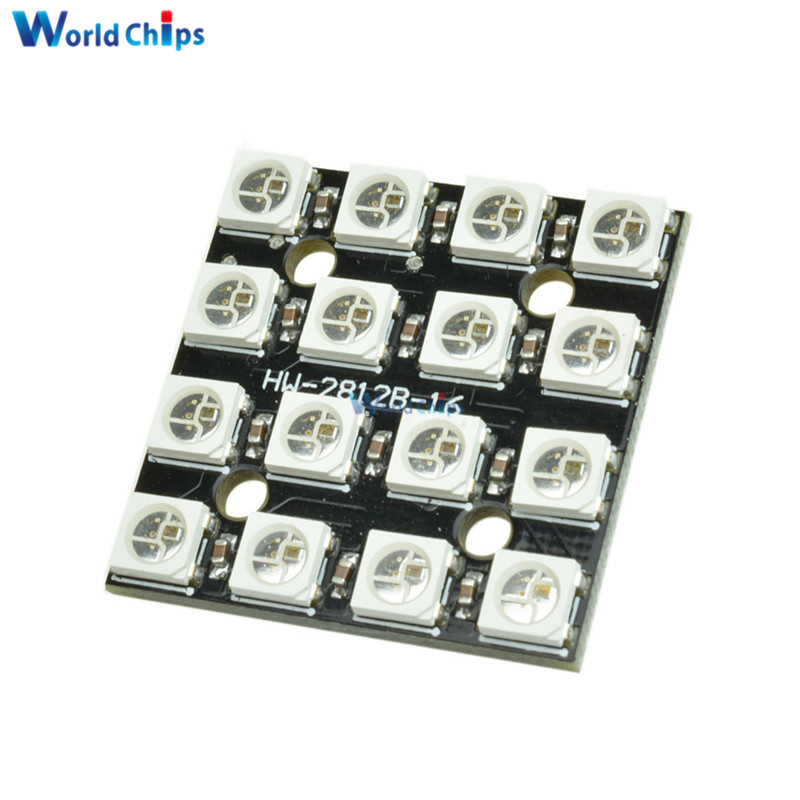 Integrated Circuits Integrated Drivers For Arduino Elegant In Style Objective 16bit Rgb 4x4 Led Ws2812b 5050 Rgb Led
