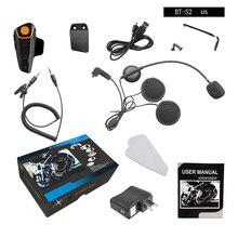 Dewtreetali 1000 м обновленная версия BT-S2 Bluetooth мотоциклетный шлем Интерком домофонных гарнитура FM радио наушники США Plug