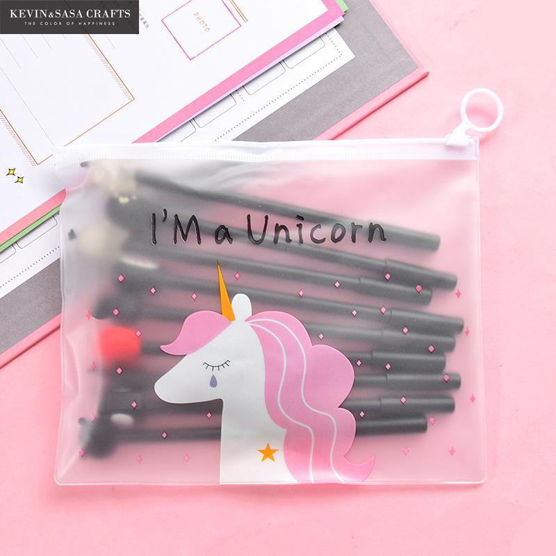 Image 5 - 10Pcs/Set Gel Pen Unicorn Pen Stationery Kawaii School Supplies Gel Ink Pen School Stationery Office Suppliers Pen Kids Gifts-in Gel Pens from Office & School Supplies