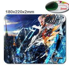 180*220*2MM New Design tokyo pink hair anime swords guilty ouma 2015new retail optical game mouse pad notebook mouse pad custom(China)