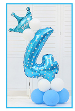 16 шт./упак. розового и голубого цвета для детей 0-9 цифры Большие Гелиевые номер Фольга детей фестивалей Dekoration День рождения шляпа игрушки для детей - Цвет: blue 4