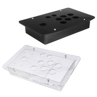 Replacement Arcade Game Kit 5mm DIY Clear Black Arcade Joystick Acrylic Panel Case Handle Sturdy Construction