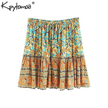 Stmanya Summer half candy color Elastic concise Bodycon Solid Color Pleated short
