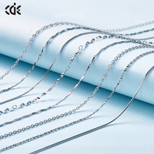 CDE 925 Sterling Silver Necklace Jewelry Embellished with crystals from Swarovski Adjustable Chains 1PCS For Women Jewelry DIY