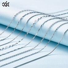 CDE 925 Sterling Silver naszyjnik biżuteria ozdobiona kryształy swarovskiego regulowane łańcuchy 1 sztuk dla kobiet biżuteria DIY