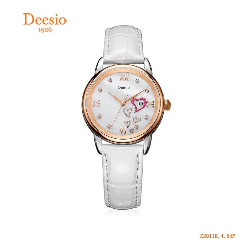 2018 Deesio Brand Women Watches Waterproof Quartz Watch Leather Fashion Brand Lady Watch for Woman цена