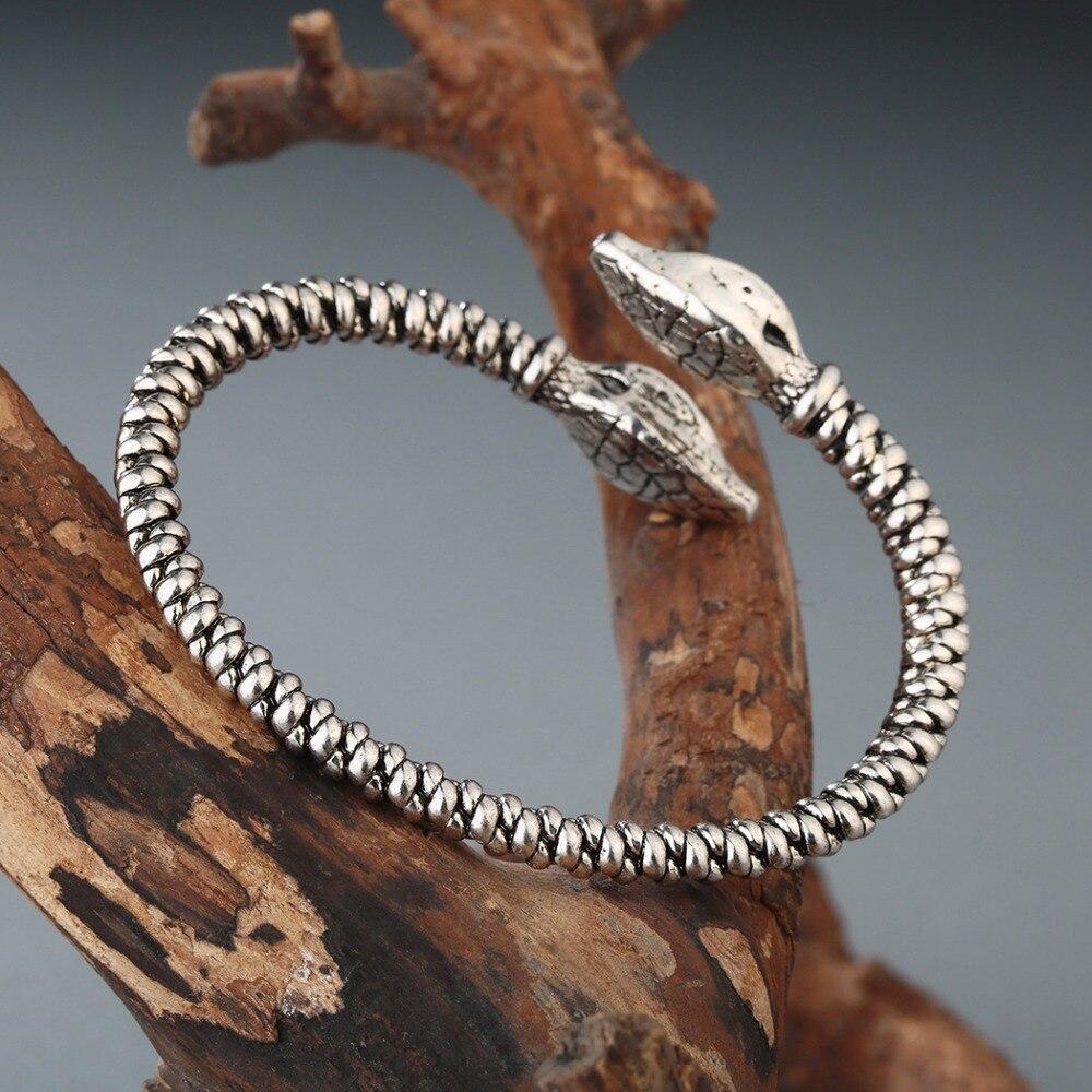 Chandler Gold Color Jormungandr Snake Viking Bracelet Bangle Nail
