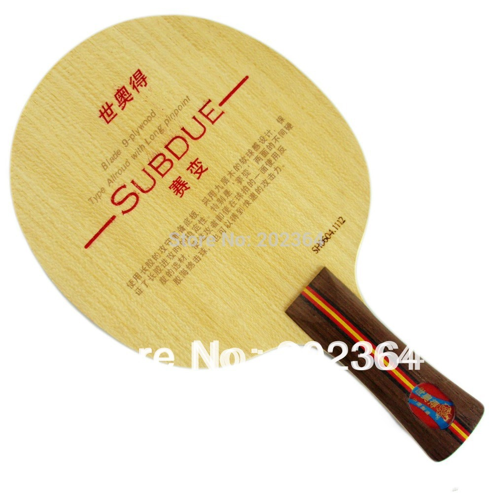 Sword Subdue 9-Plywood Allround Long Shakehand FL Table Tennis Blade for Long Pips-Out PingPong Rubber sword subdue table tennis blade with double fish 1615 and 820a rubber with sponge for a ping pong racket long shakehand fl
