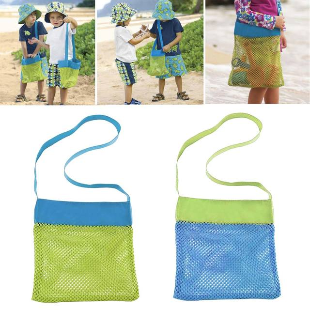 Mesh seashell bags Pack Beach Summer Pouch Tote Stay Away From Sand Children Seashell Collecting Portable Carrying Bags bolsas