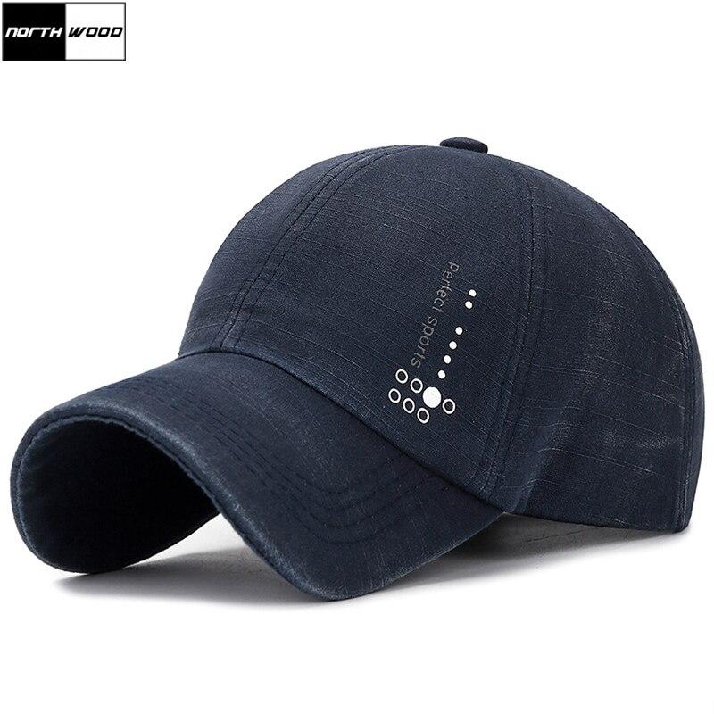 [NORTHWOOD] Washed Baseball Caps Summer Men Sports Caps Women Sun Visor Hat Bone Casquette Homme Dad Hats Gorras Trucker Cap