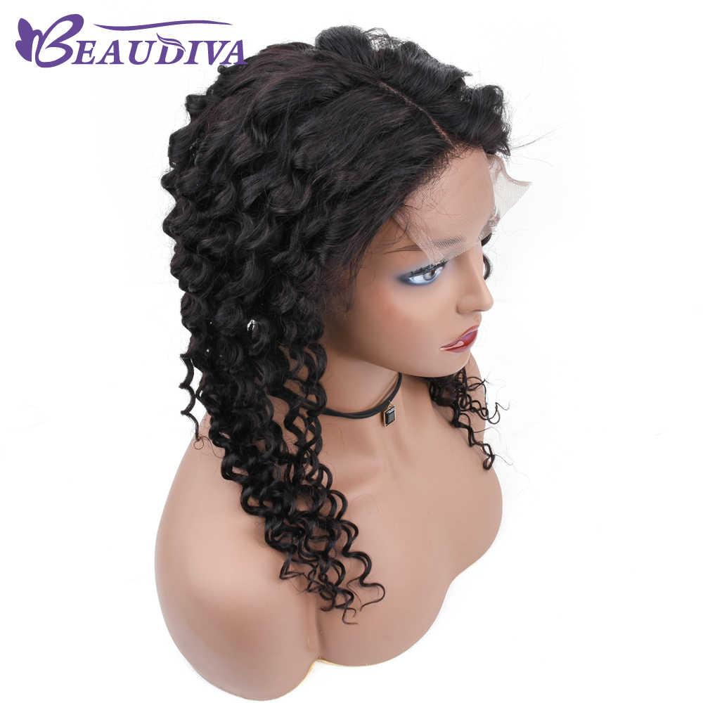 Beau Diva 4*4 бразильский синтетические волосы на кружеве человеческие Искусственные парики для женщин не Реми Натуральный черны