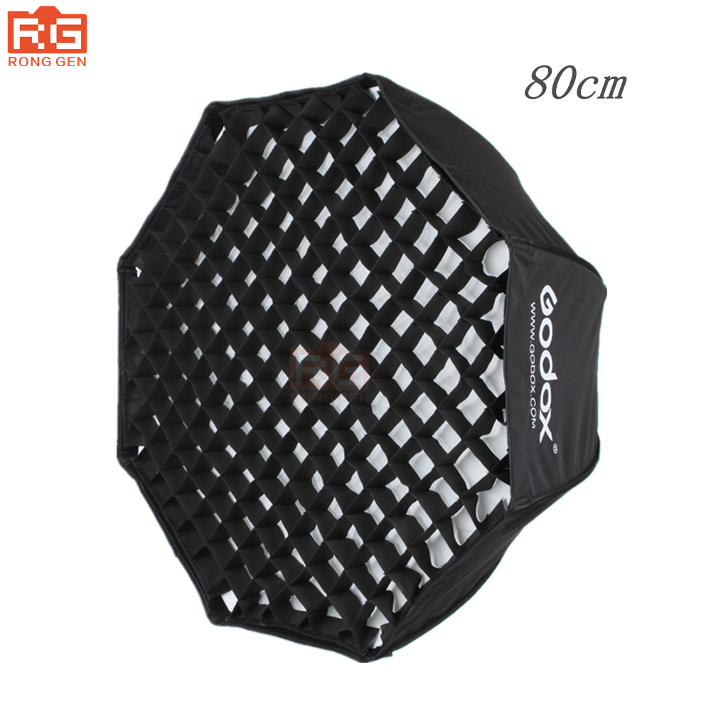 Godox 80 cm 32 octagon softbox umbrella photo studio flash reflector reflector speedlite with honeycomb grid