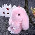 Nueva Conejito Conejo Muñecas Juguetes de Peluche Super Lindo Mullido Conejo Colgante Llavero Bolso Del Coche Decoración Para Niños Amigos de Regalo de Los Amantes