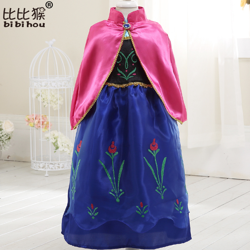 Girls Dress Summer COS costume princess Dress for Kids dress for girls Party  dress with cape Dress Costumes Cosplay 2
