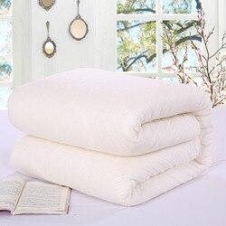 100% Cotton Duvets Quilted Futon Duvet Pure Plant Long Stable Fiber Comforters Non-Irritating Hypoallergenic Warm Bedding Core