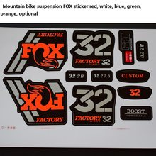32MM FOX sticker Suitable for mountain bikes Fork Suspension Bicycle plug 26 27.5 29 inch(China)
