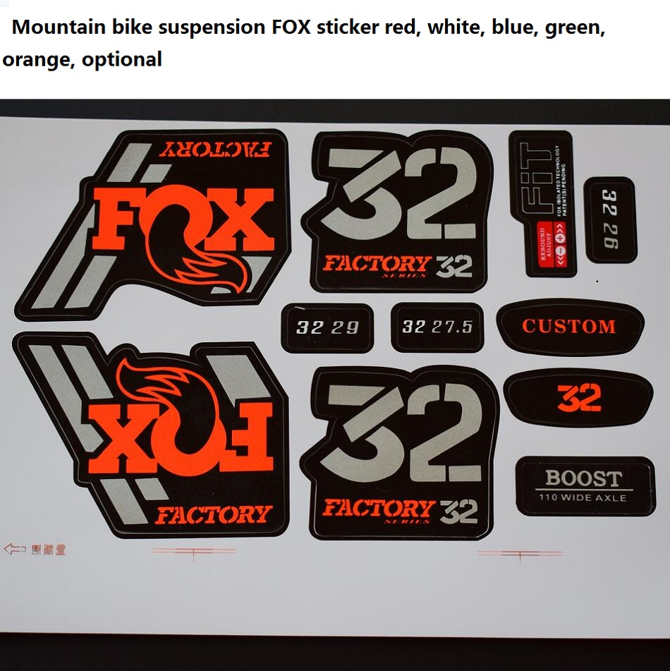 32MM FOX sticker Suitable for mountain bikes <font><b>Fork</b></font> Suspension <font><b>Bicycle</b></font> plug 26 <font><b>27.5</b></font> 29 inch image