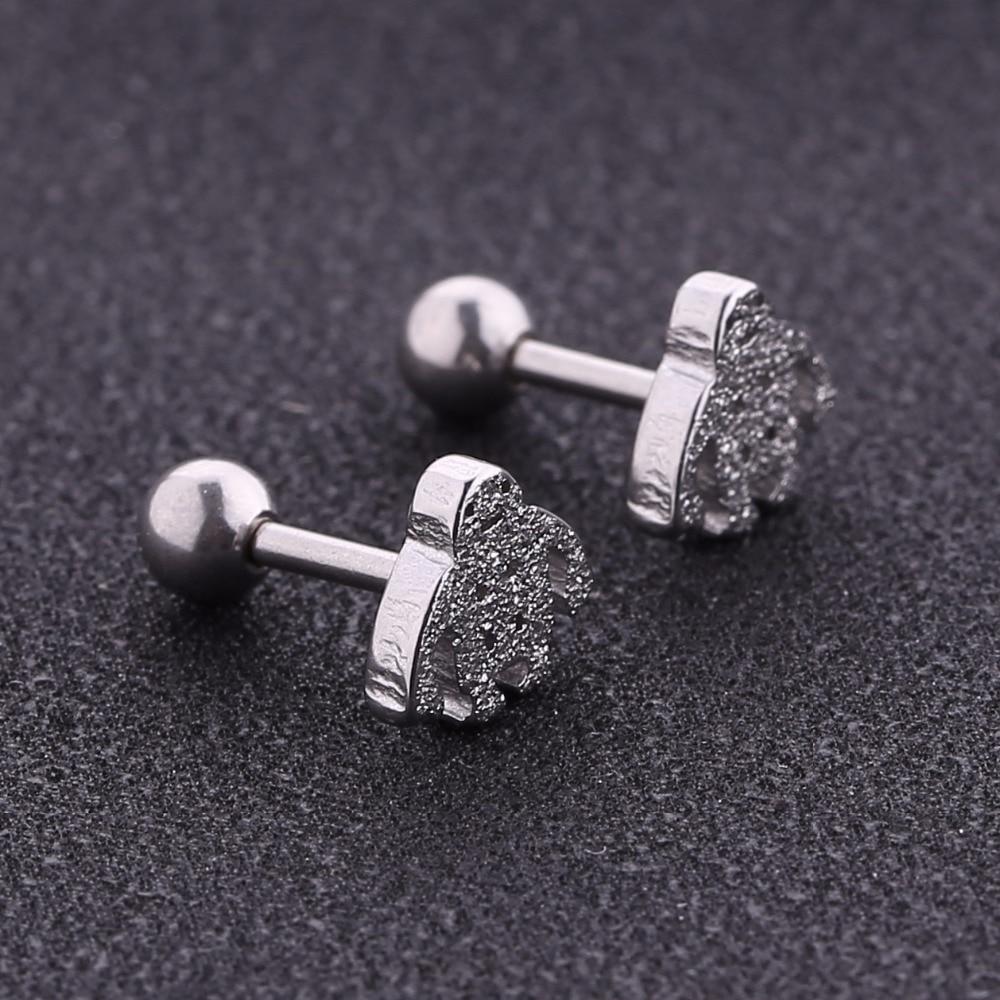 20pcs/pack Cute Earring man cool earrings snow man stud earring for woman girl kid