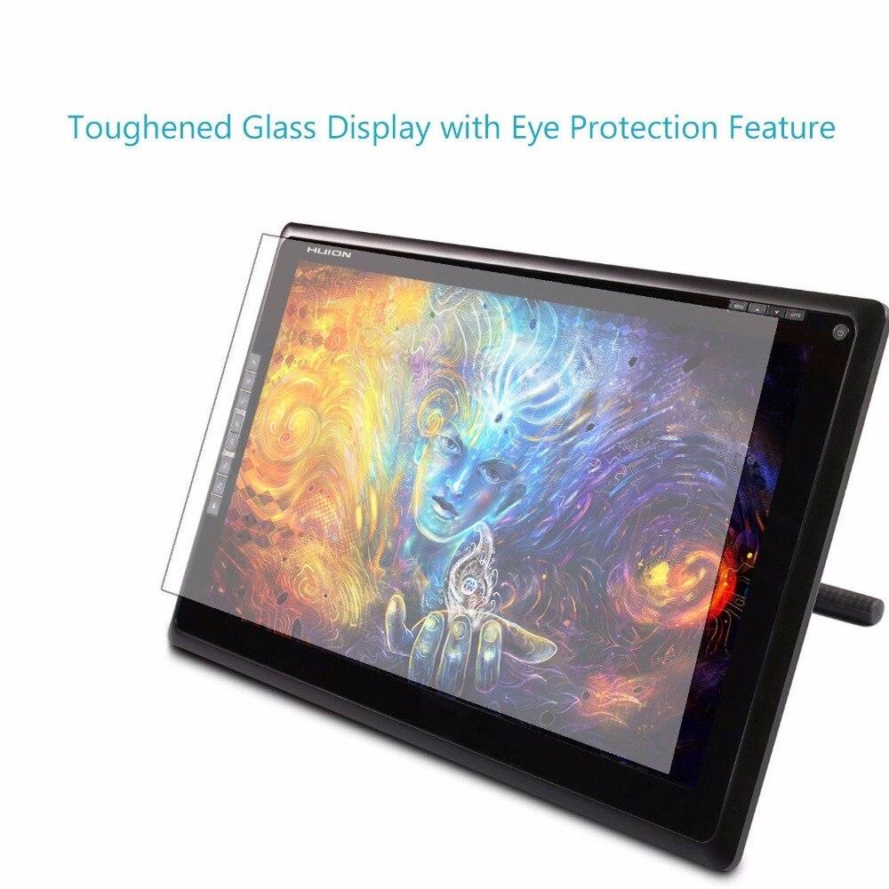 Huion 18.4 pouces graphique stylo tablette moniteur GT-185 TFT 1366x768 HDMI 8 HotKeys Art écran conception 8 HotKey gratuit DP cadeau de noël