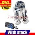 Clone 10225 Lepin 05043 LELE 35009 UCS Genuine Star Series Guerra O R2-D2 Robô Conjunto Conjunto de Blocos de Construção Tijolos Brinquedos