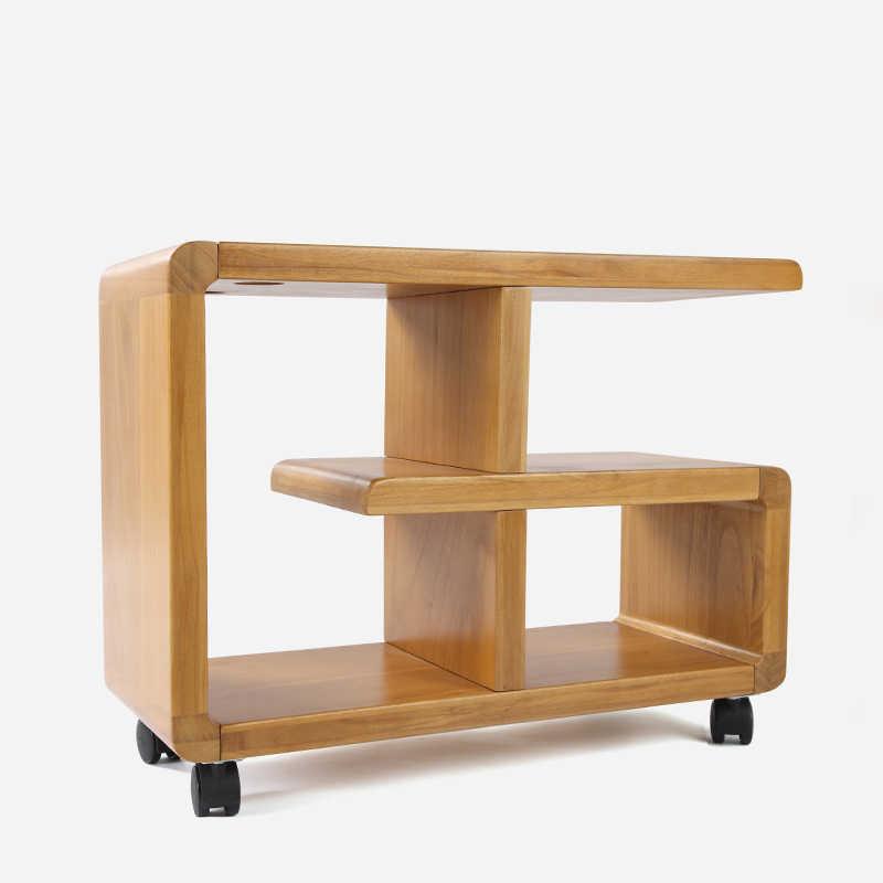 ルイファッションコーヒーテーブル現代のシンプルな木製可動本棚リビングルーム収納キャビネット