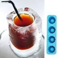 4-Cup Forma De Cubo de Gelo Tiro Fabricante de Moldes De Vidro Congelar Atiradores Partido Bandeja Silicion