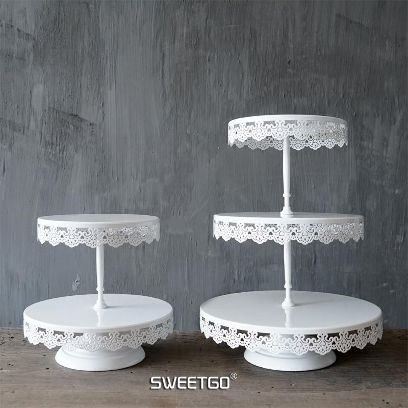 SWEETGO 2/3 nivele kupa e dasmës, tortë për dekor, tortë për - Kuzhinë, ngrënie dhe bar - Foto 2