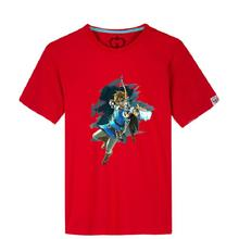 High-Q Unisex The Legend of Zelda: Breath of the Wild cotton t-shirt tee t shirt Zelda Link breathable loose t-shirt tee shirt