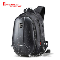 GHOST RACING Waterproof Motorcycle Bag Motorcycle Backpack Tank Bag Carbon Fiber Moto Motorbike Helmet Bags Travel Luggage
