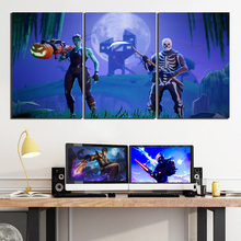 3 Piece GAMING Poster on Canvas for Home Decor F3V1