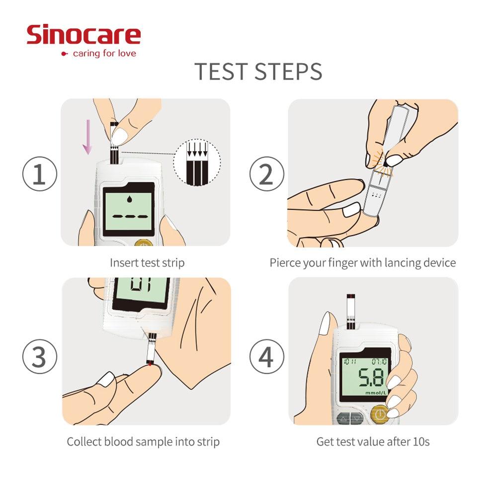 Medidor de Glicose 100 Tiras Lancetas Glicosímetro Diabetes