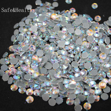 Crystal AB(blue) SS6-SS10 Machine Glass Material DMC Hotfix Rhinestones Flatback For Clothing Decoration