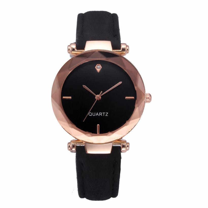 2019 hot kobiety zegarki moda damska koreański dżet zegarek kwarcowy z różowego złota kobiet zegarek na pasku reloj mujer AA10 relogio femino