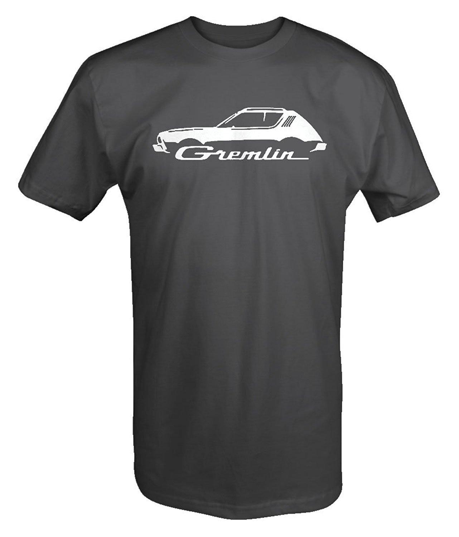 2018 New Summer Slim Tee Shirt M22 AMX Gremlin American Motor Classic Car T Shirt Fashion T-shirt ...