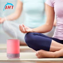 By DHL 10pcs Mini LED Light Essential Oil Aroma Diffuser Ultrasonic Air Humidifier Car Mist Maker for Home& Bedroom