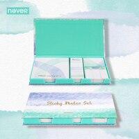 Nooit Aquarel Collection Memoblokjes Set Memo Pad Set Post Dagboek Stickers Mode Briefpapier Kantoor En Schoolbenodigdheden