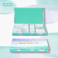 Never Watercolor Collection Sticky Notes Set Memo Pad Set Post It Diary Stickers Fashion Stationery Office