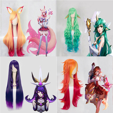Jeu LOL Cosplay perruque étoile gardien Miss Fortune Ahri Ezreal Soraka Syndra Cosplay perruque cheveux synthétiques perruque Halloween fête perruques