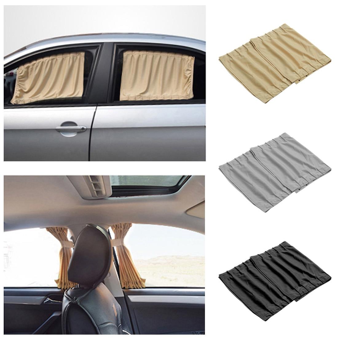 2018 Auto Window frames Sun protection visor blinds cover Aluminum alloy car side windows sun protection shades 2 pieces / set.