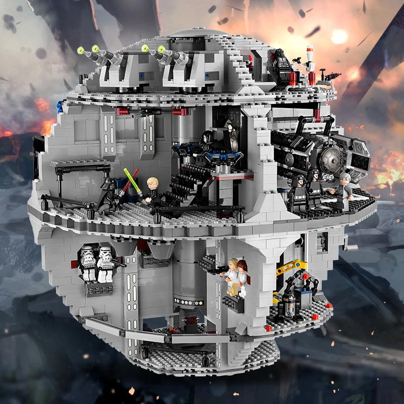 NEW LEPIN 05035 Star Wars Death Star Model 3803pcs Building Block Bricks Toys Kits Minifigure Compatible