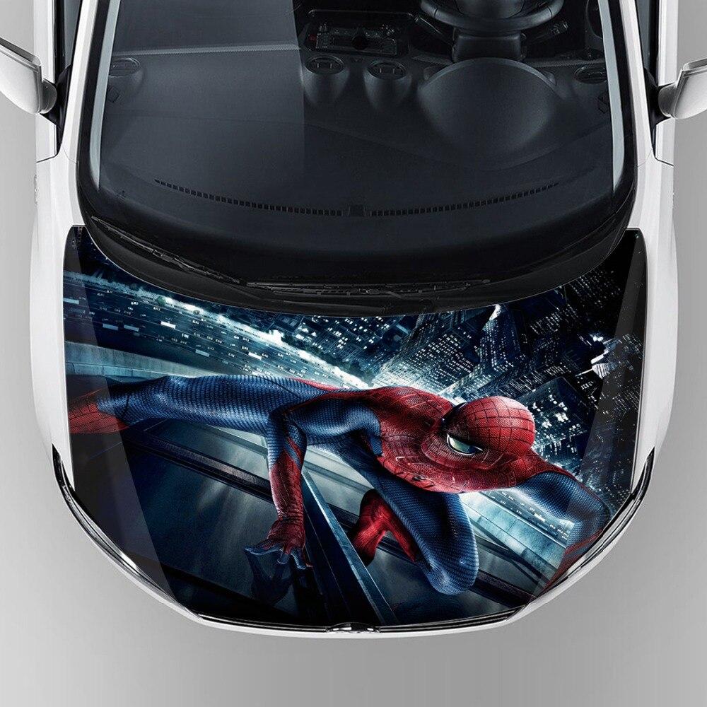 новый премиум-паук графический винил этикеты автомобиля стикер собственн липкий обернуть автомобиля капот наклейка защитной бумаги с sunproof
