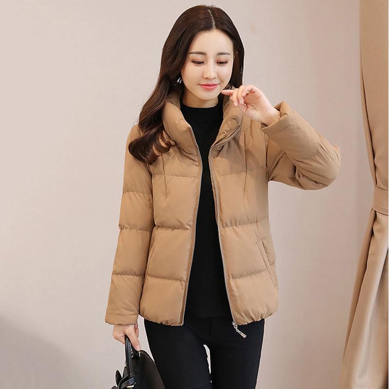 Jacket Coton Longues Plus Chaud À Veste La caramel Mince Manches Mujer Manteau Parkas Femmes Taille Chaqueta khaki Rembourré 2018 Elegante Black Hiver Coréenne SCw0qTR