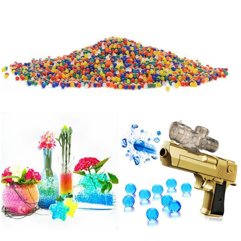15g 100PCS Color Crystal Soil Water Pearl Water DIY Toy Decoration Products Water Absorbent Beads Hydrogel MAGIC Gel Growth