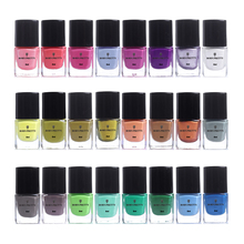 BORN PRETTY 6ml 24 Bottles Nail Stamping Polish Colorful Art Plate Printing Varnish Lacquer Manicure Paint