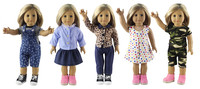 5 Set Doll Clothes For 18 American Girl Doll Handmade New Casual Wear Outfit